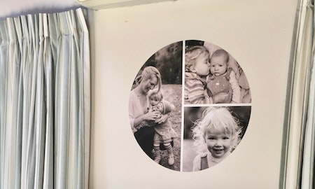Three steps to create a collage wall dot