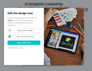 Canva: Sign Up/Sign In