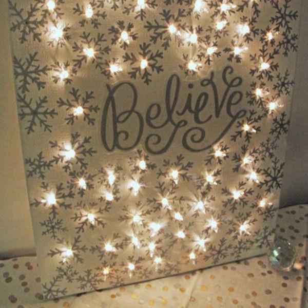 Lighted Christmas Canvas