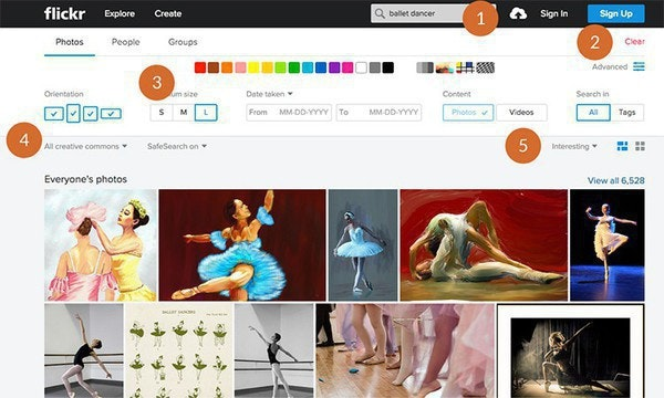 How to find free photos on Flickr