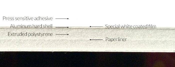 Sleek board cross cut