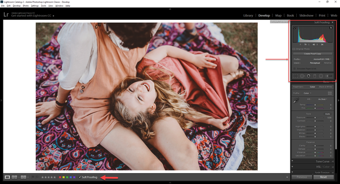Soft Proofing in Lightroom Step 1