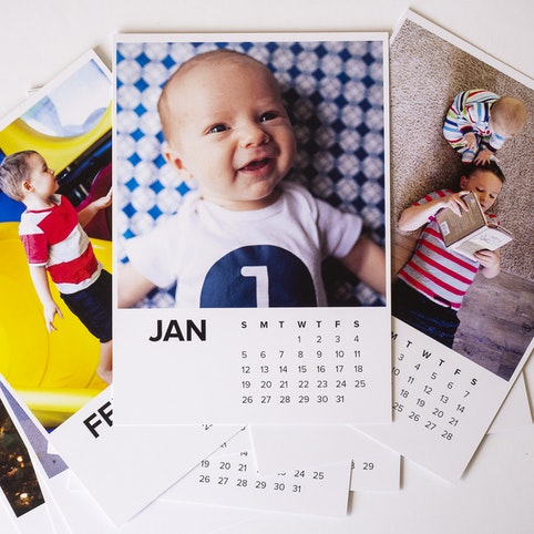 Our calendar prints are printed A5 size.