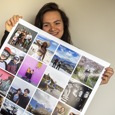 60x90cm collage poster with 24 photos.