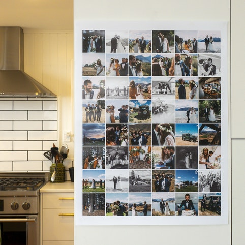 45x60cm collage poster with 48 photos.
