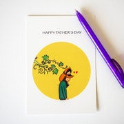 Father's Day card - Illustration - Girl