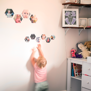 Hexagon wall decals- HappyMoose
