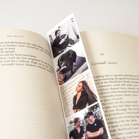 Photobooth strips make excellent bookmarks.