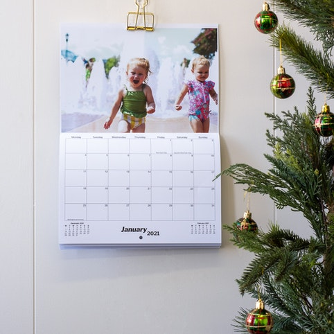 The perfect Christmas gift, a personalised 2021 wall calendar.