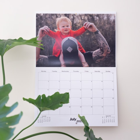 Your calendar comes with 12 photos printed on heavy-weight 265gsm silk paper.