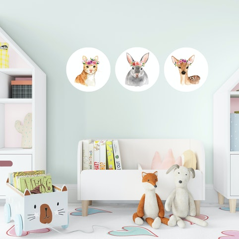 Four 15cm wall decal dots